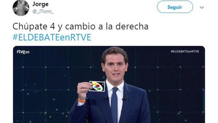Los cartelitos de Rivera dieron mucho de sí