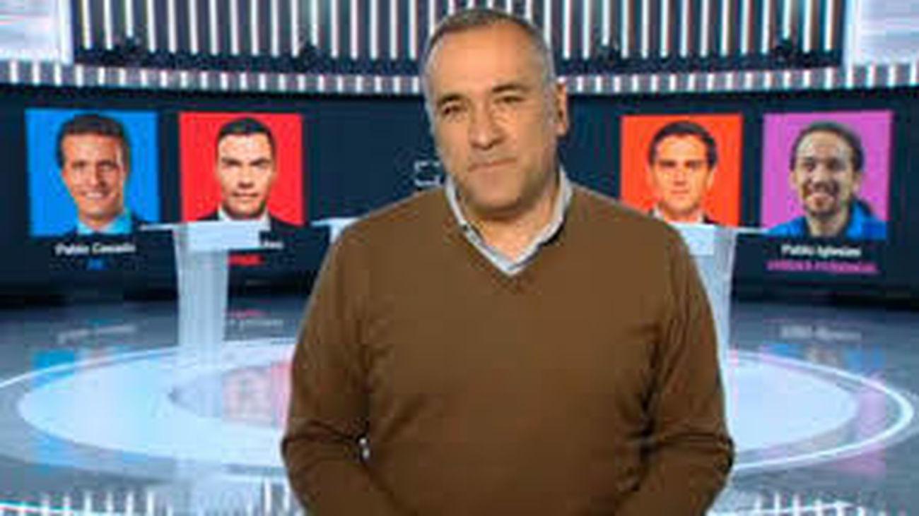 Xabier Fortes, presentador del debate político que tuvo lugar ayer en TVE