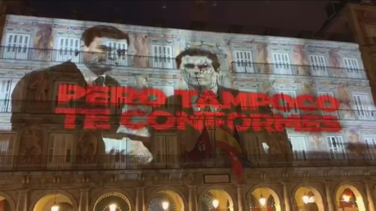 """Barbero dice que la actuación de la Policía en la proyección de la Plaza Mayor fue """"impecable"""""""