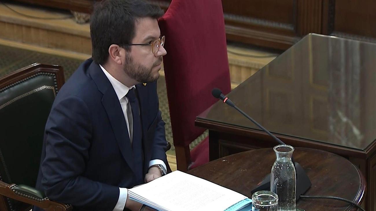 El tribunal exime a Aragonès de declarar como testigo en el juicio del 'procés'