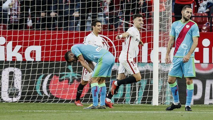 5-0.  El Rayo se asoma al abismo tras ser goleado por el Sevilla