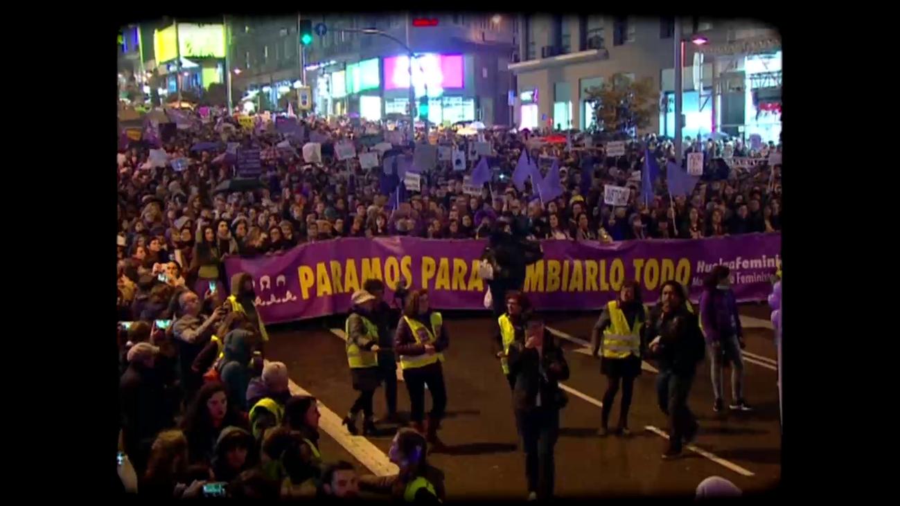 Madrid vive su primera huelga feminista
