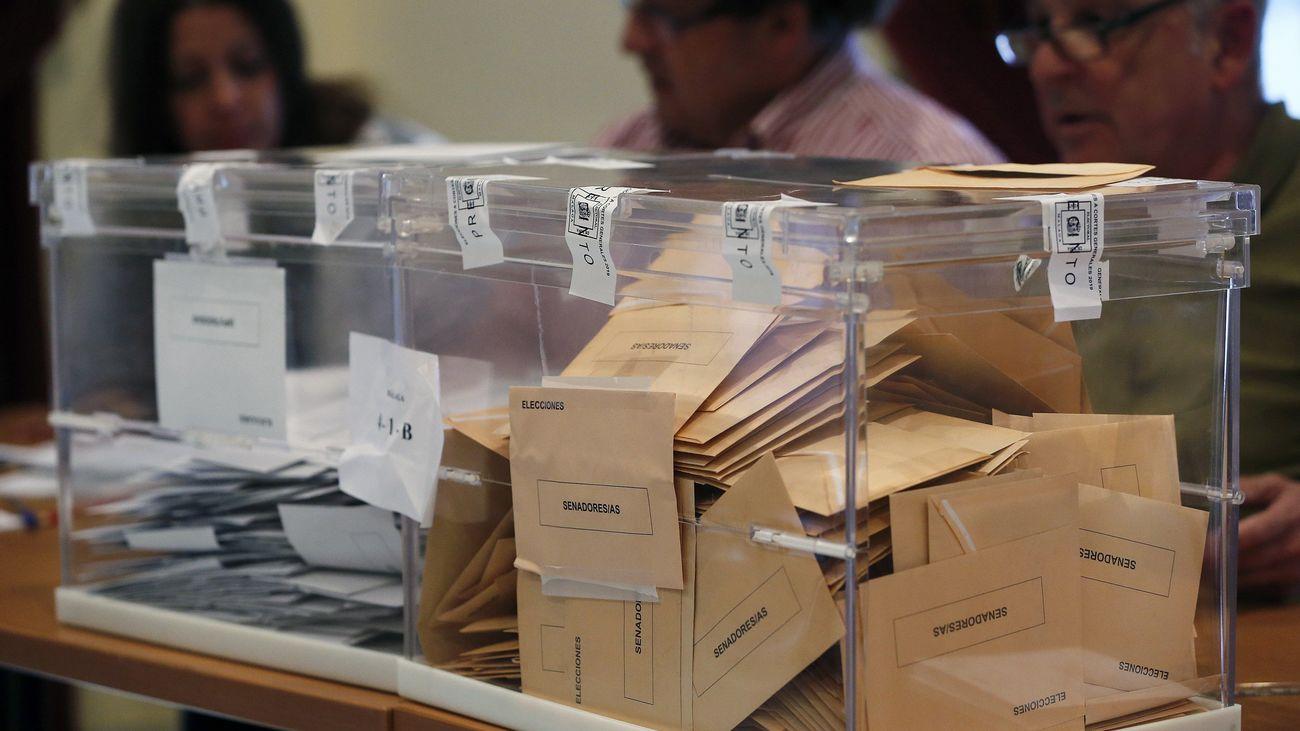 Urnas cerradas durante las elecciones generales 2019