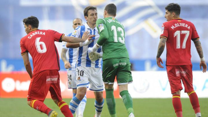 2-1. Polémica y frenazo del Getafe ante la Real Sociedad