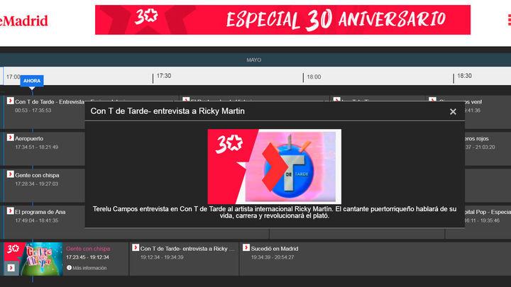 Telemadrid.es abre el 'Canal 30 años', con más de 300 horas de programas del archivo de Telemadrid