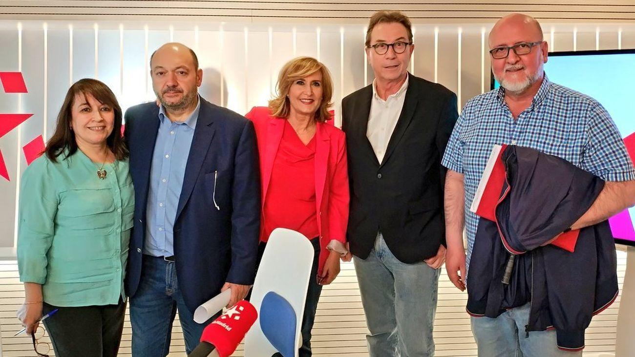 Cara a cara entre los líderes sindicales madrileños en Com.permiso