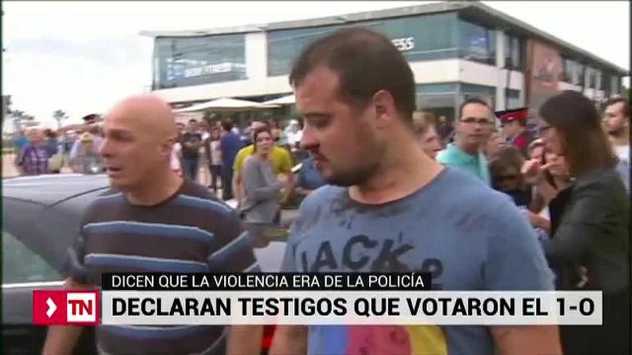 Votantes del 1-O se presentan como pacíficosen el 'juicio del Procés'