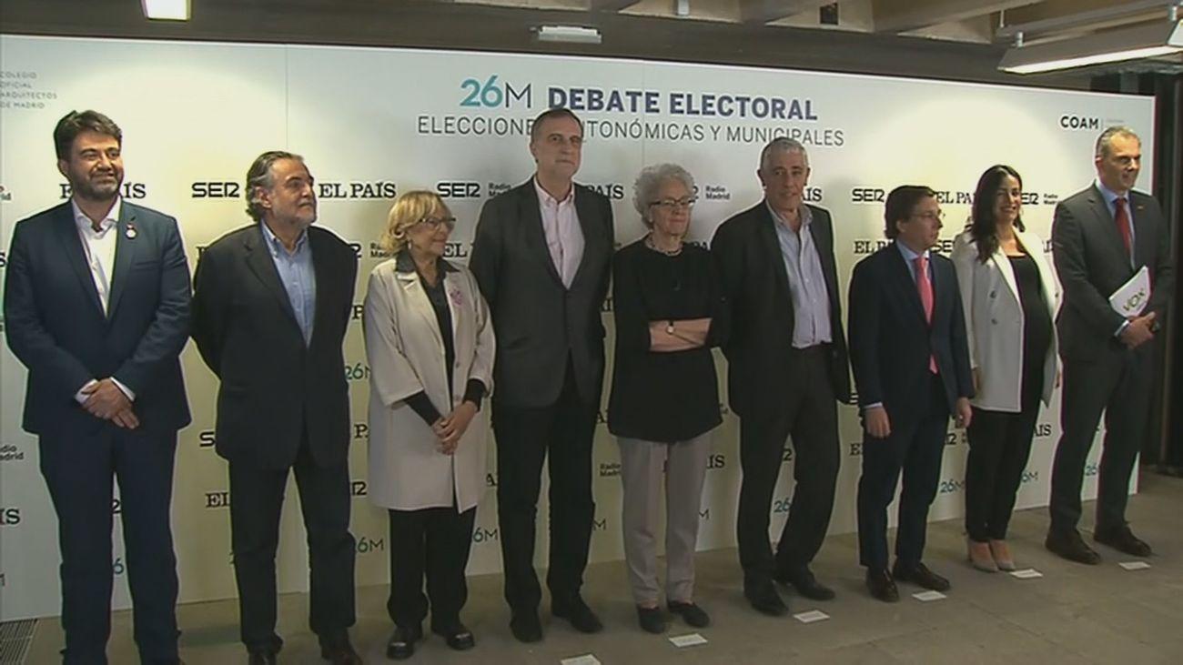 El debate de los candidatos al Ayuntamiento de Madrid, minuto a minuto