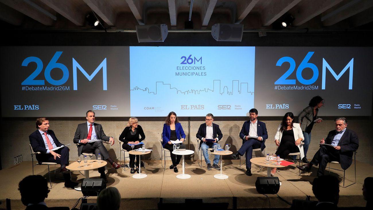 Debate con los candidatos a la alcaldía de Madrid organizado por El País