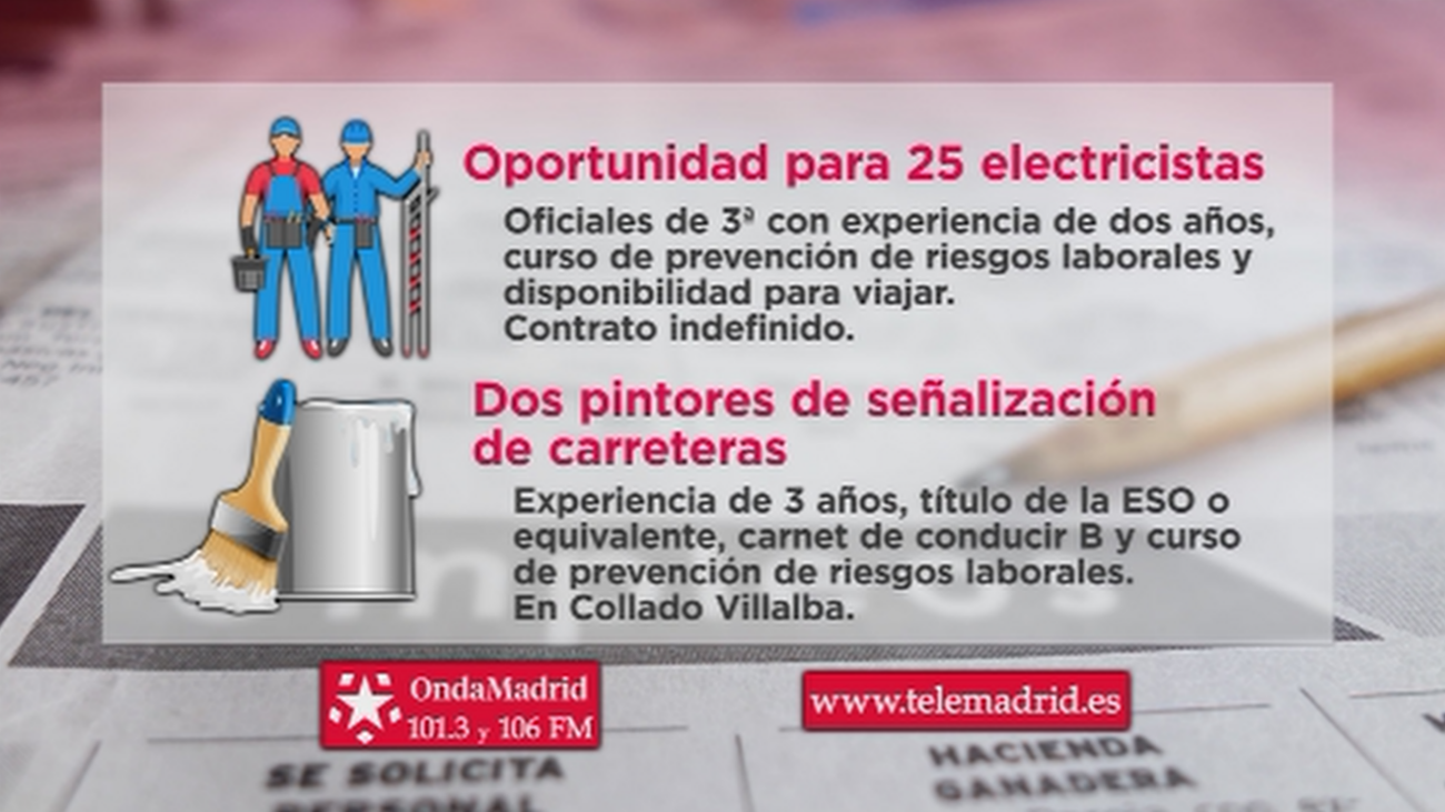 Se buscan electricistas con disponibilidad para viajar por España