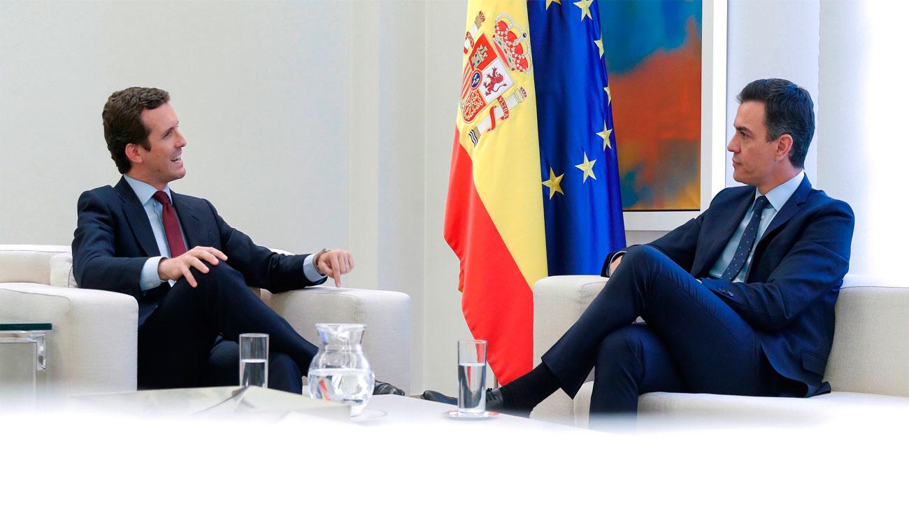 Casado no facilitará la investidura de Sánchez pero le pideevitar al independentismo