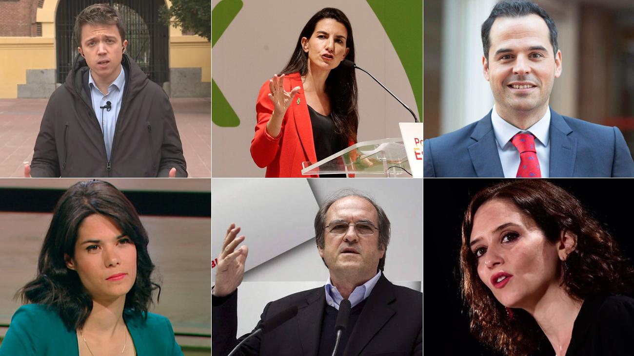 Los candidatos a la Asamblea de Madrid
