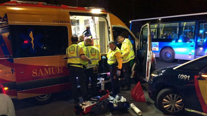 Un motorista herido muy grave en un accidente en Glorieta Marqués de Vadillo