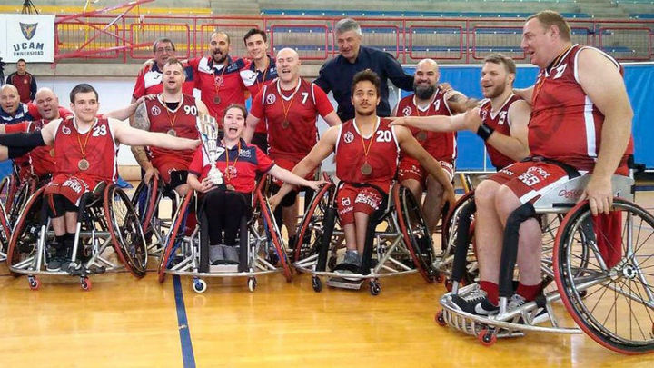 Las Rozas asciende a División de Honor de baloncesto en silla de ruedas