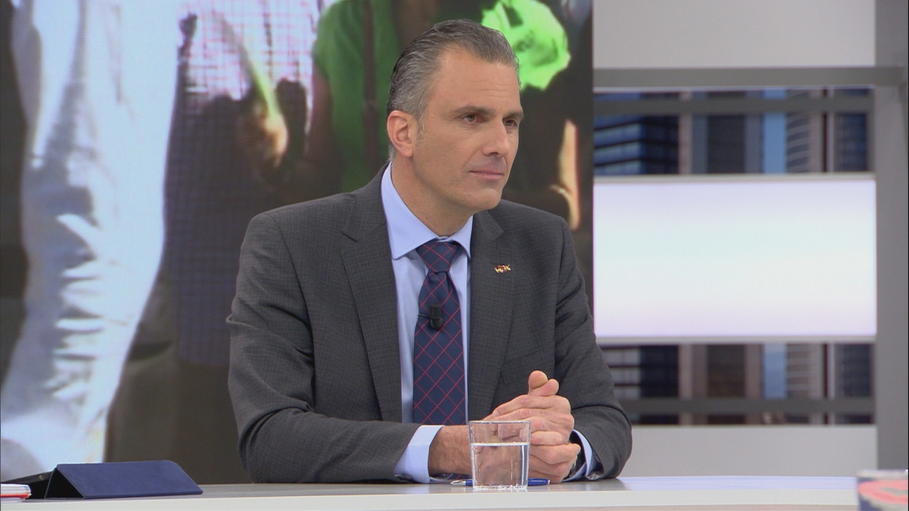 """Ortega Smith: """"Pido a los madrileños que sean valientes y voten a Vox"""""""