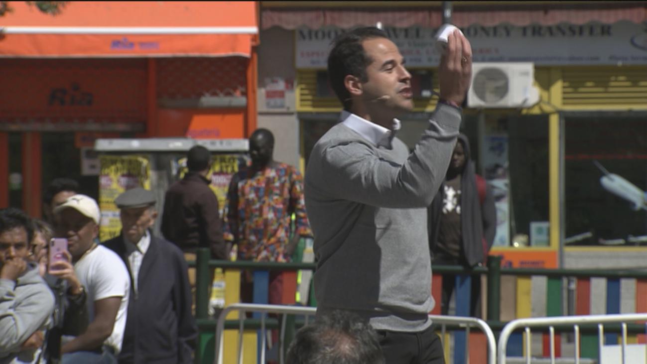 Protestas contra Ciudadanos en un acto sobre okupación en Lavapiés
