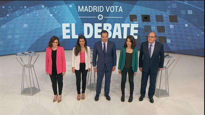 Debate autonómico a cinco en Telemadrid