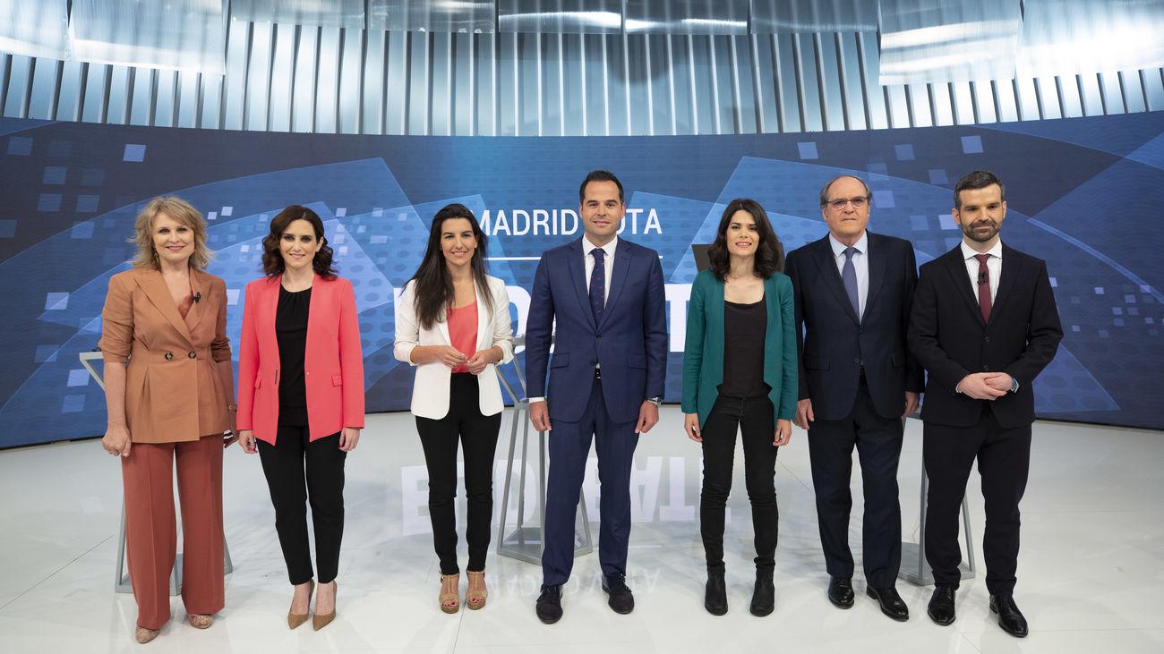 El debate de Telemadrid logra un 8,1% de share y se posiciona en el primer puesto en el 'trending topic' nacional