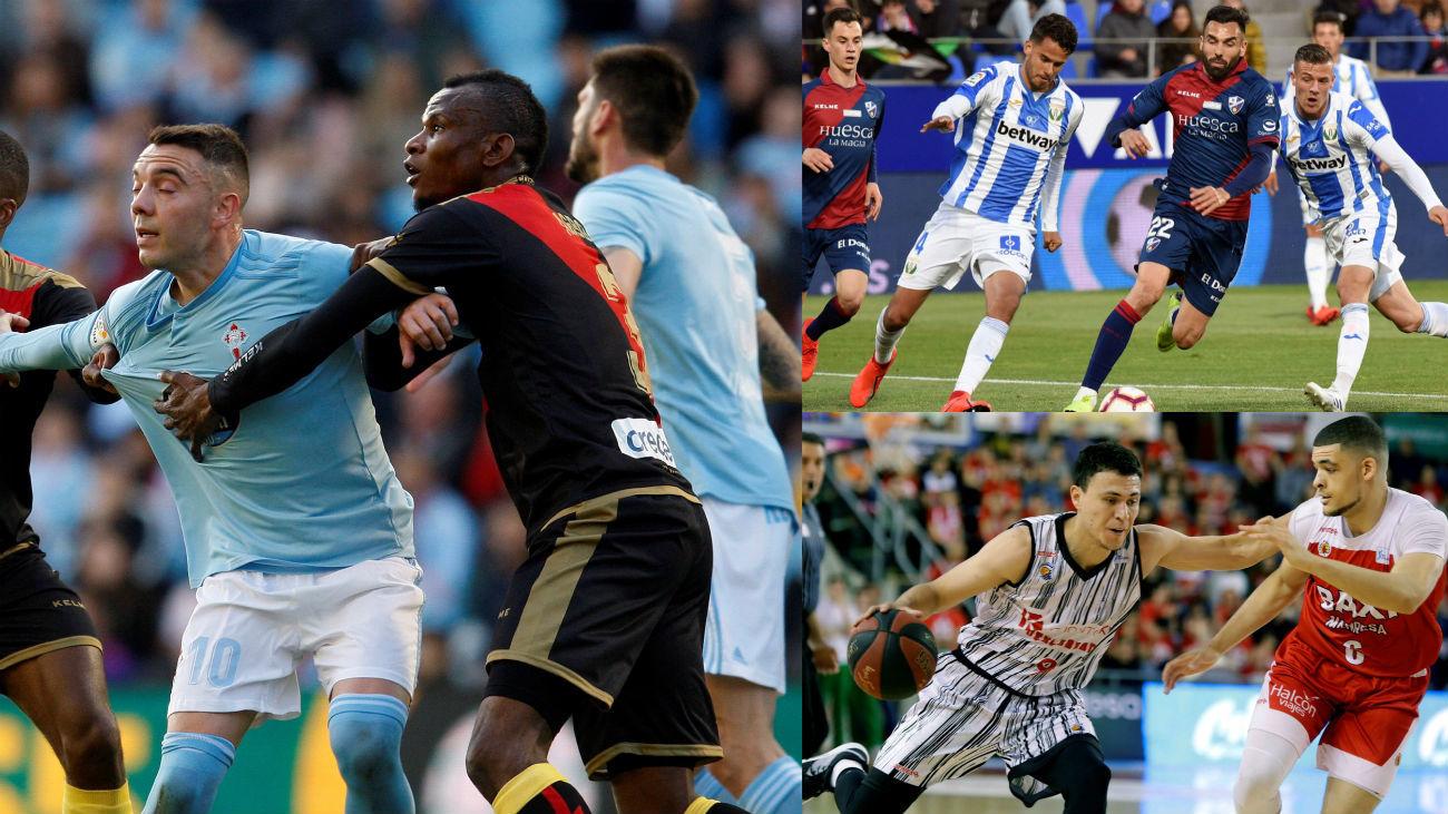Empata el Rayo (2-2), pierden Leganés (2-1) y Fuenlabrada (86-77)