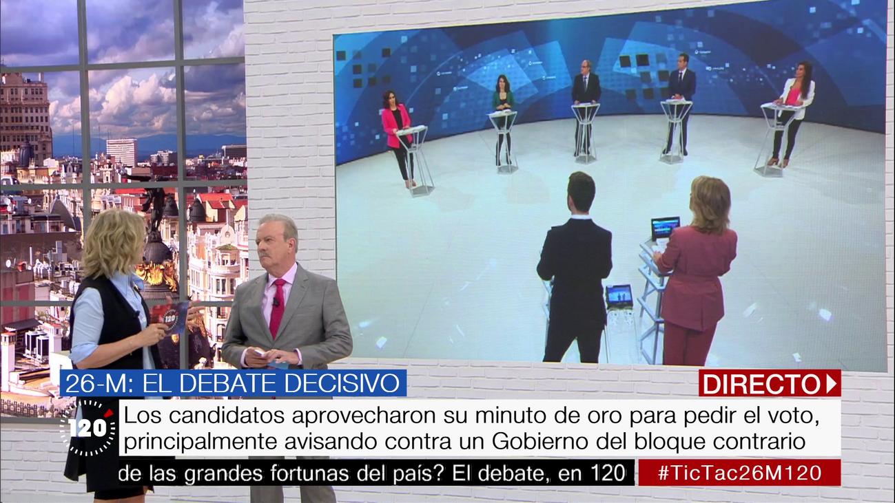 El minuto de oro de los candidatos a la Comunidad de Madrid, al detalle