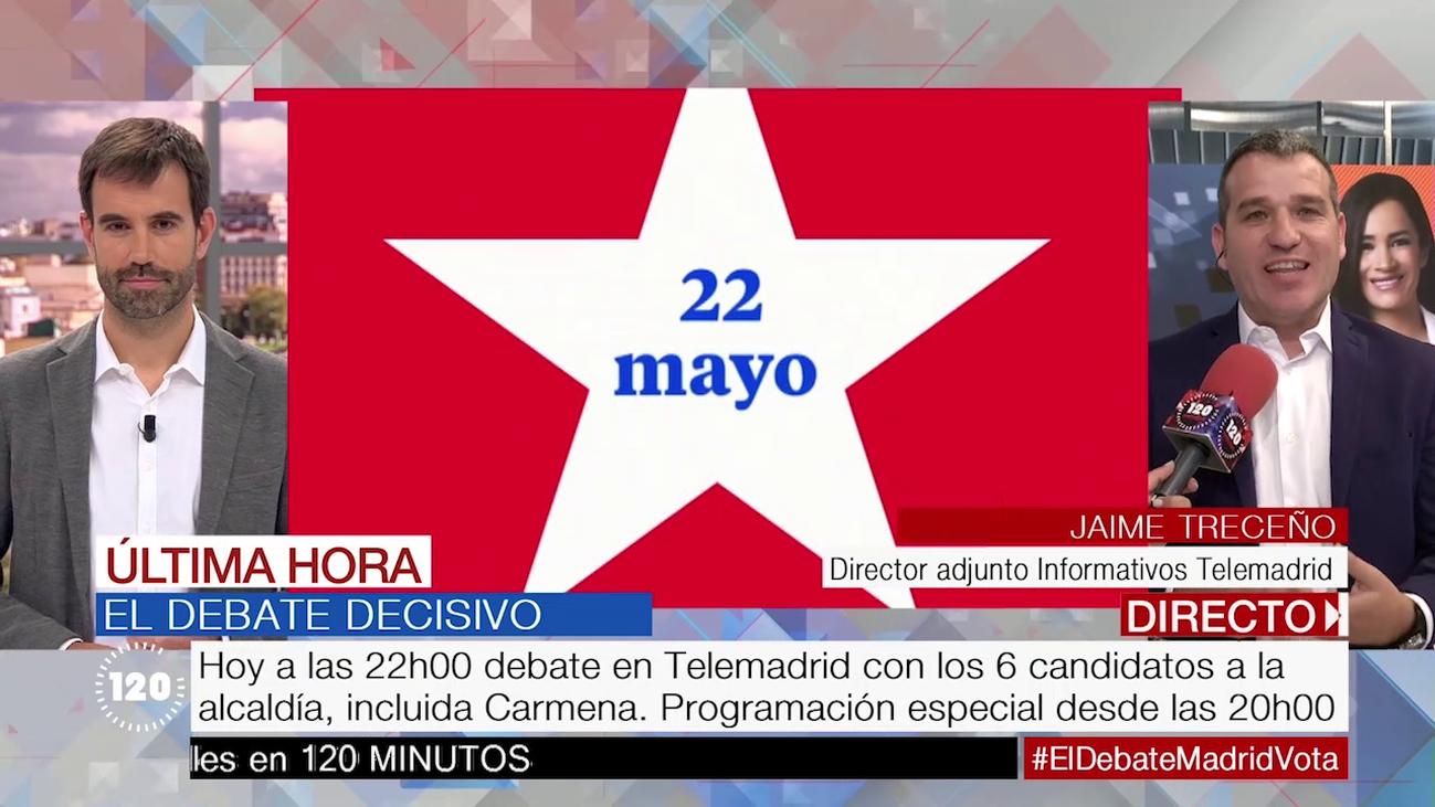 Esta noche, a las 22.00 horas, el debate decisivo entre los candidatos a la alcaldía de Madrid