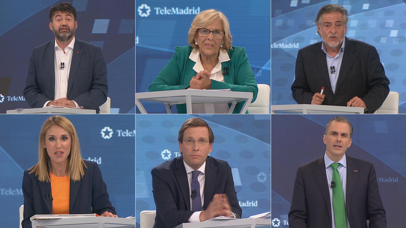 El minuto de oro de los candidatos al Ayuntamiento de Madrid