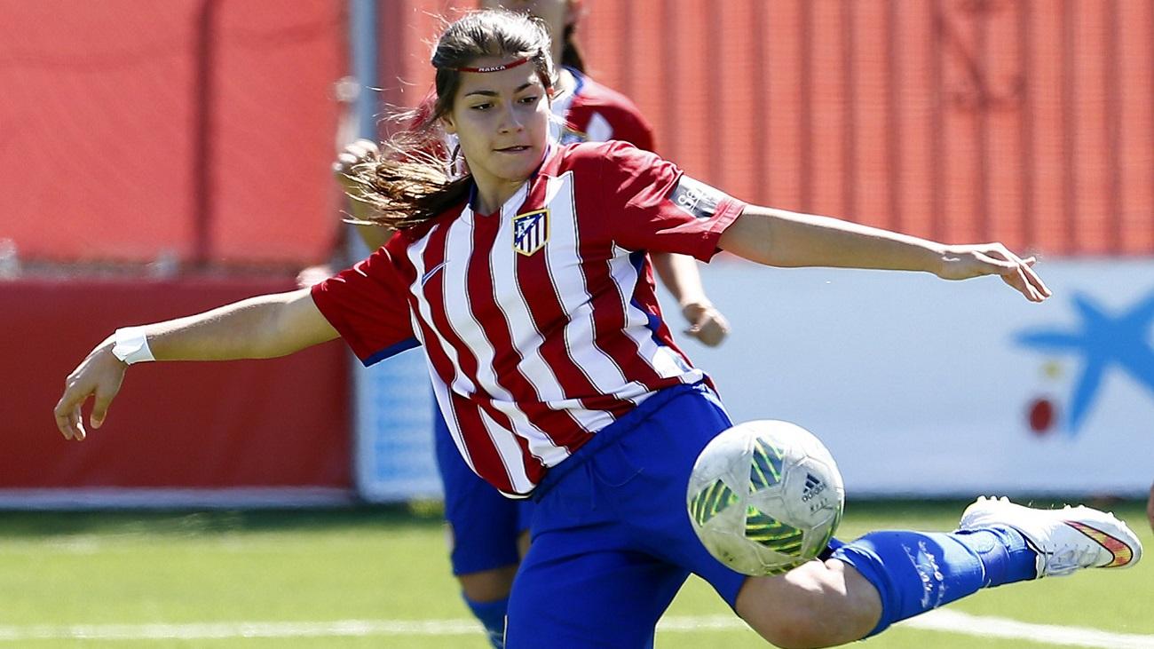 Gol de Ana Marcos, del Atleti B, al Madrid CFF B (2-1)