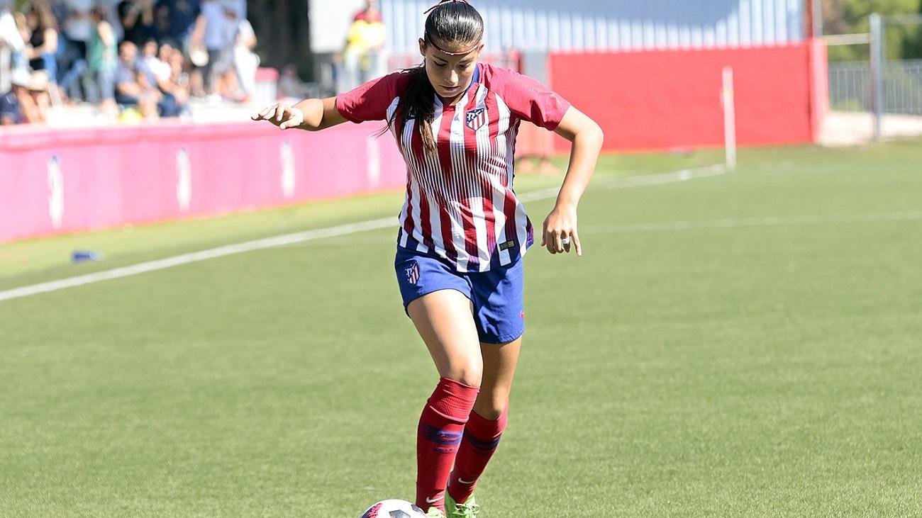 Gol de Ana Marcos, del Atleti B, al Madrid CFF B (1-1)