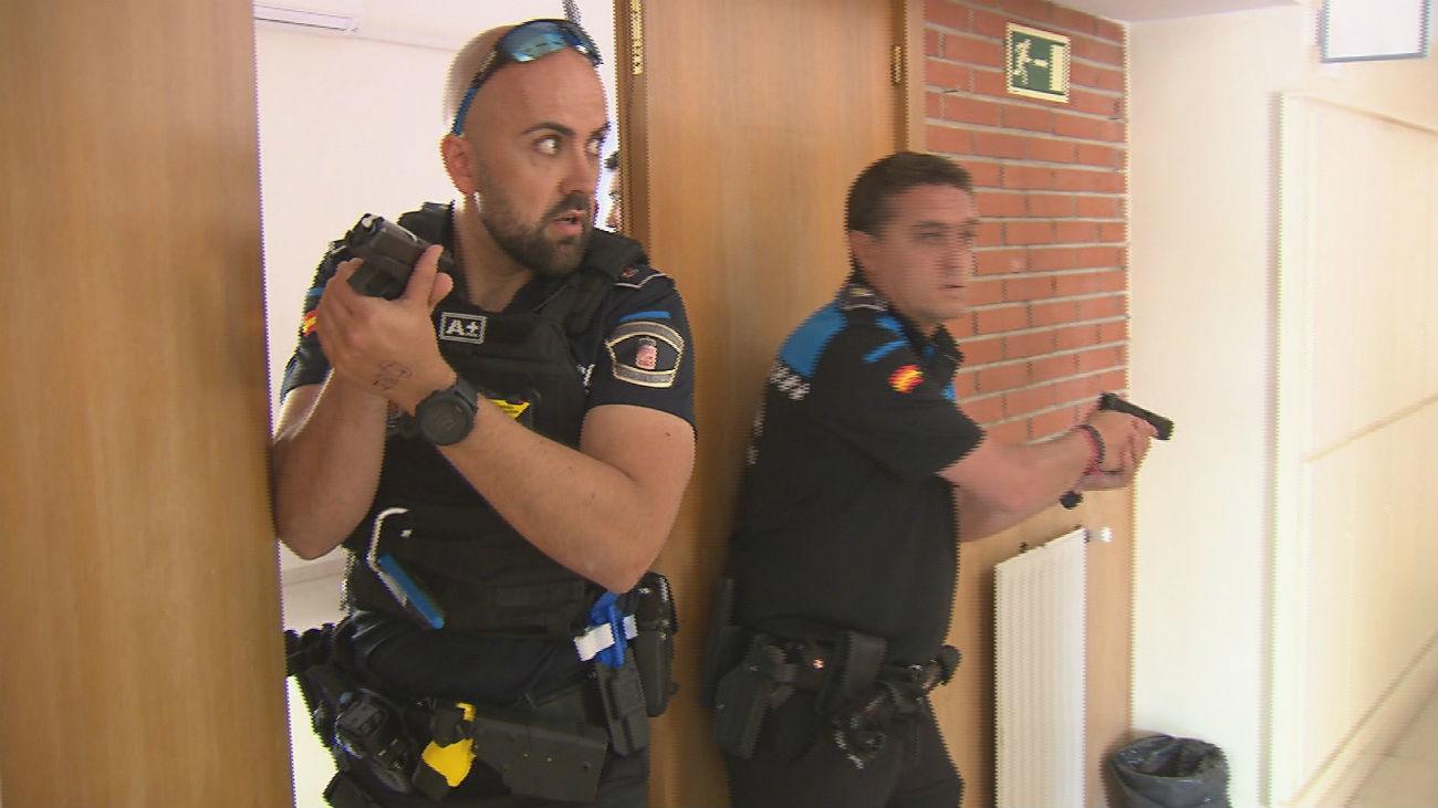 Así actúa la policía local en un simulacro de ataque terrorista
