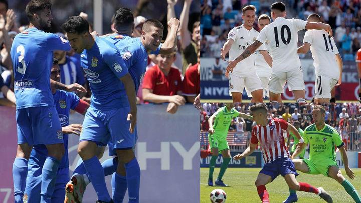 Fuenla y Castilla encarrilan sus eliminatorias; el Atleti B empata