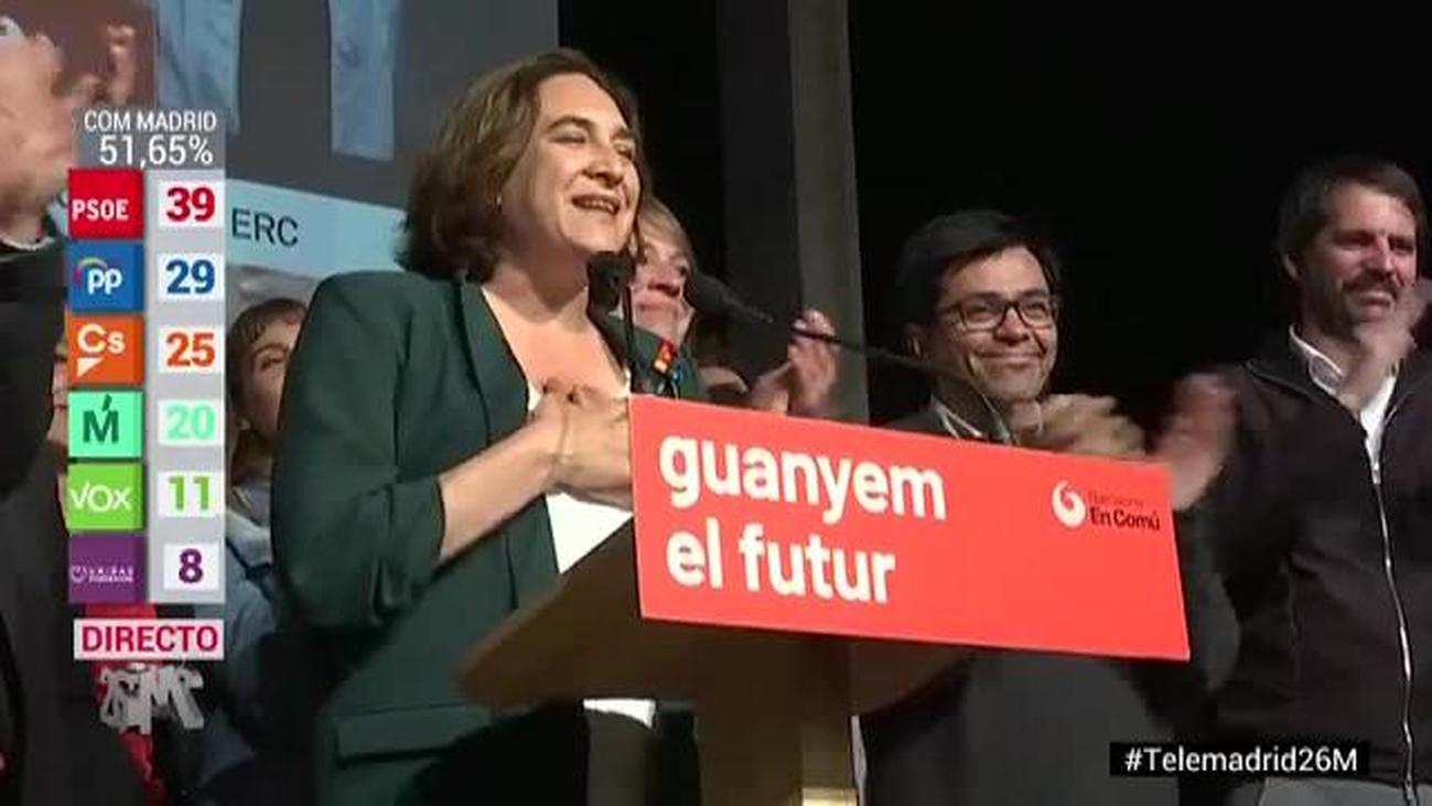 Ada Colau felicita a Ernest Maragall por la victoria de ERC en Barcelona