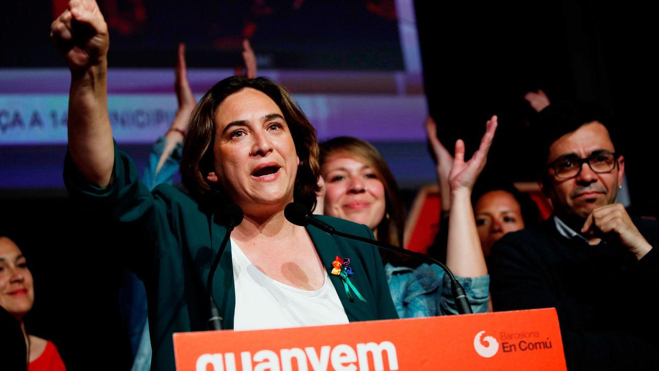 Ada Colau ha empatado en Barcelona con Esquerra, que previsiblemente gobernará en la ciudad condal
