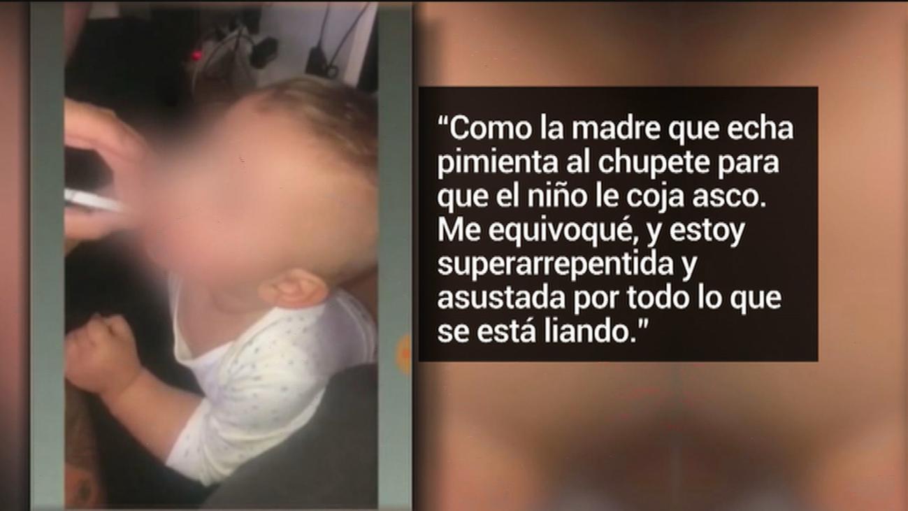 Una madre madrileña graba a su bebé fumando y lo sube a Instagram