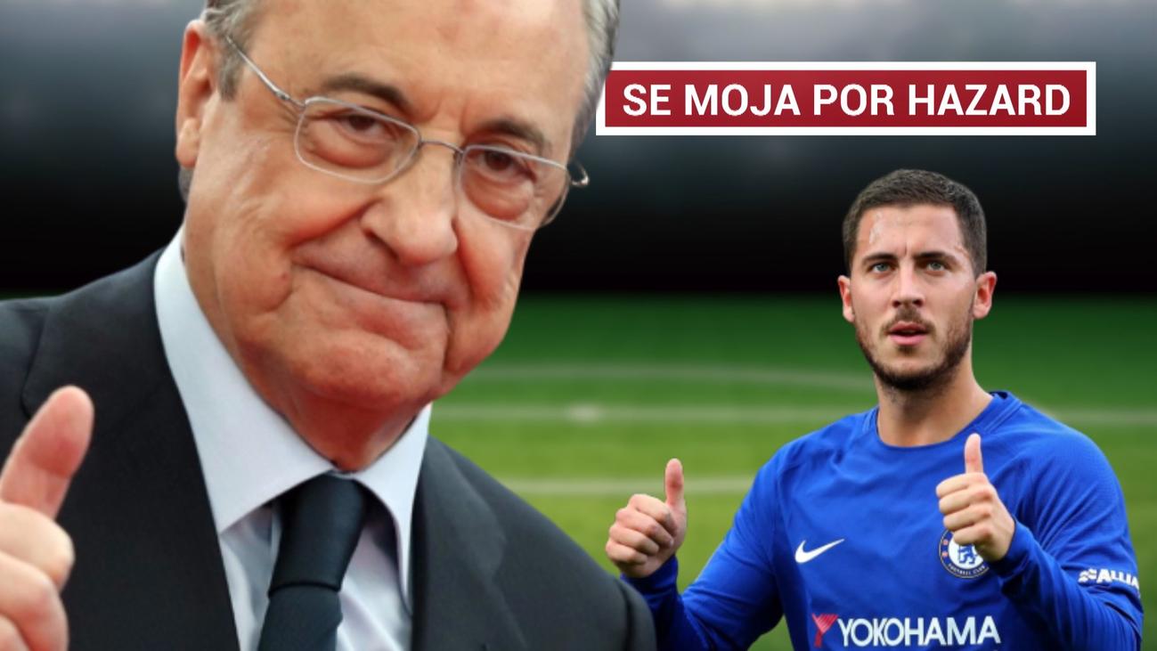 Florentino Pérez deja caer el fichaje de Hazard
