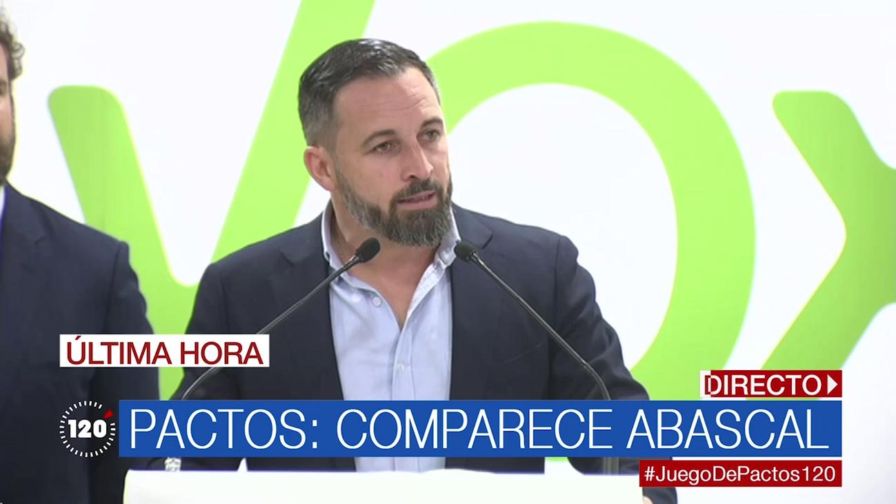 """Santiago Abascal dice que """"no está escrito en el cielo"""" que gobiernen Almeida o Ayuso"""
