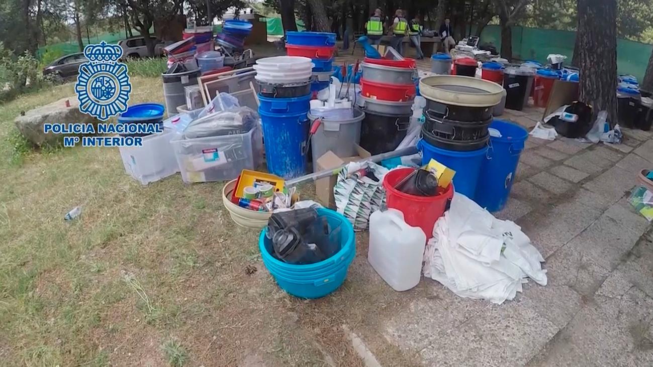 Operación en Alcorcón, Villaviciosa y Valdemorillo contra una red de laboratorios de cocaína