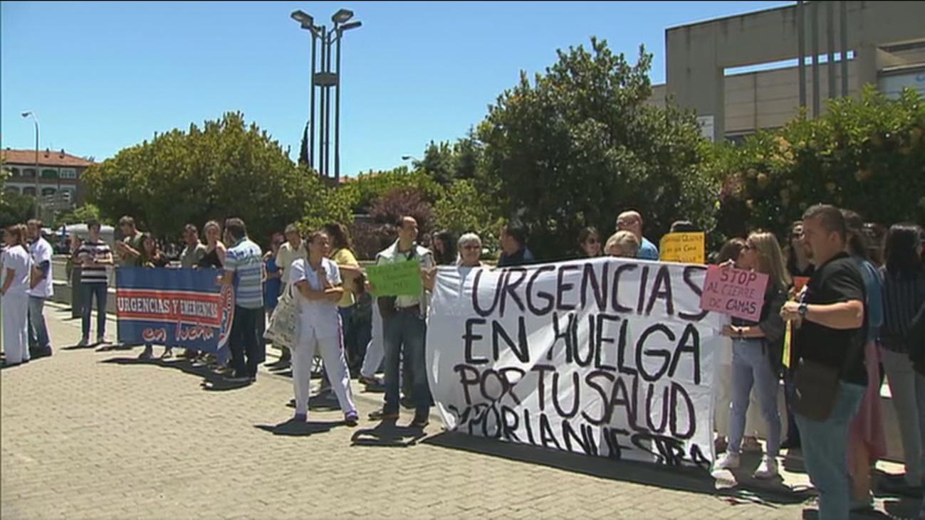 Jornada sin incidentes en la huelga en las Urgencias de La Paz