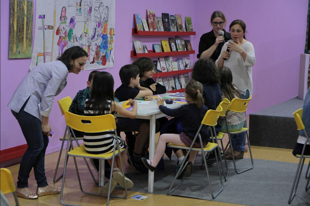 Taller con niños en la Feria del Libro