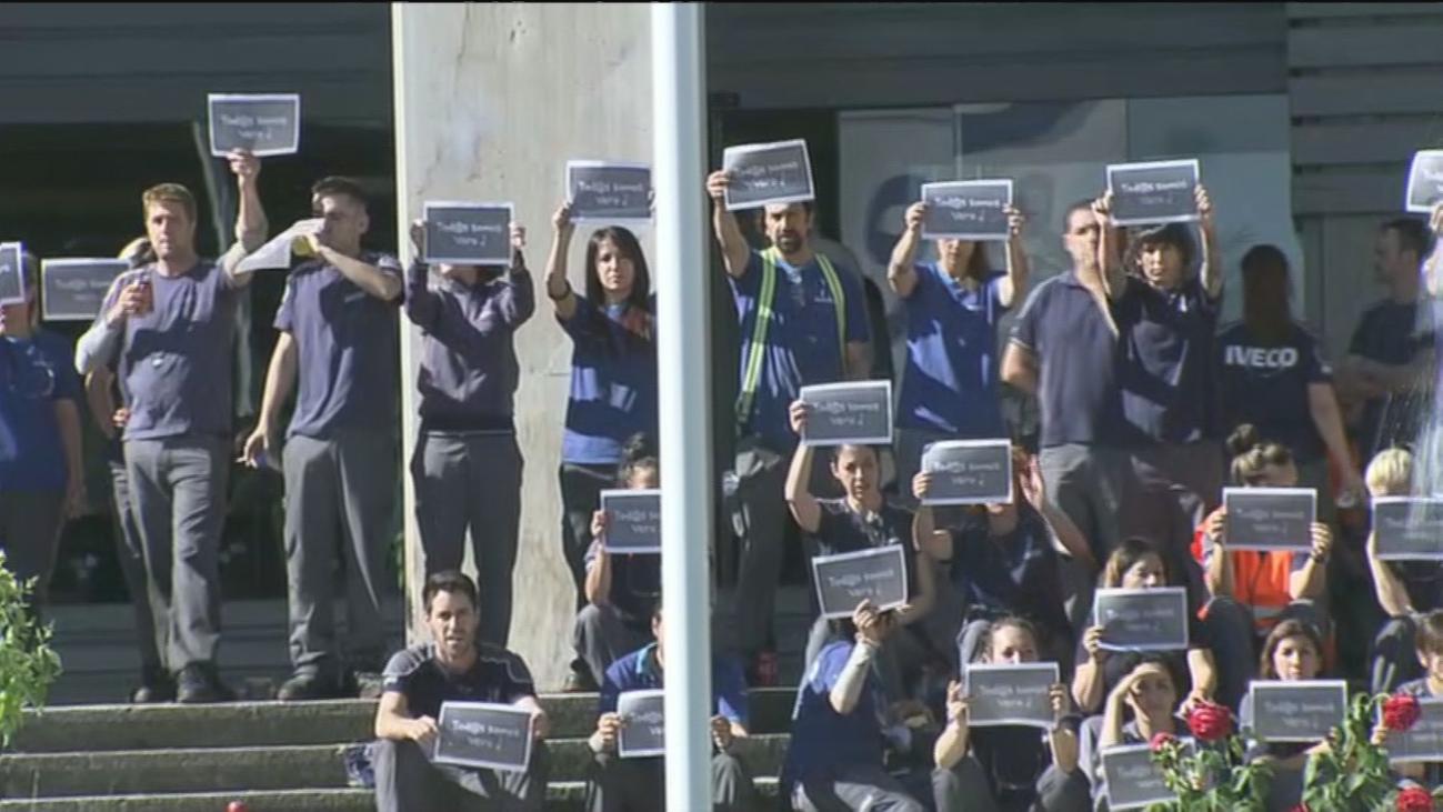 """""""No somos criminales"""", el mensaje de los trabajadores de Iveco"""