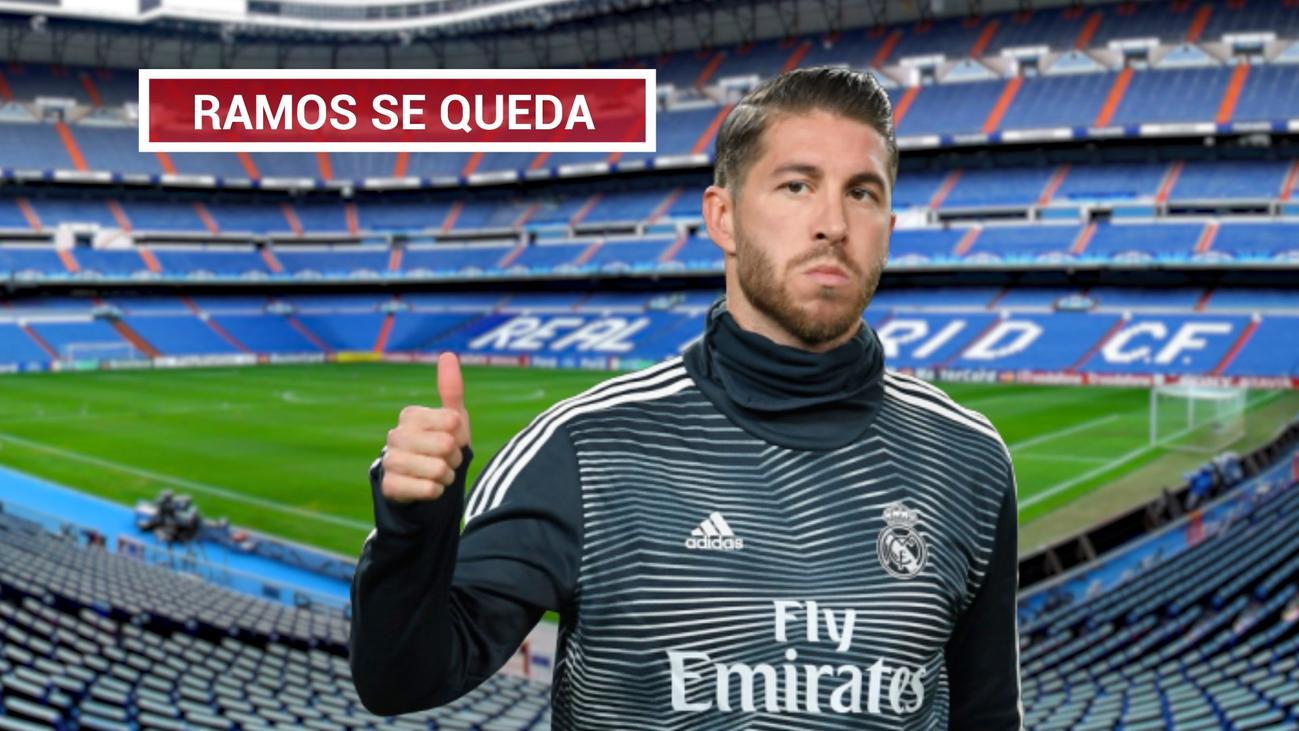 """Ramos zanja los rumores: """"Me quiero retirar en el Real Madrid"""""""