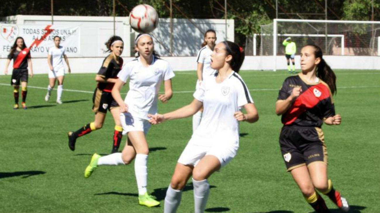Gol de Noemí, del Madrid CFF,  a la Fundación Rayo (0-1)