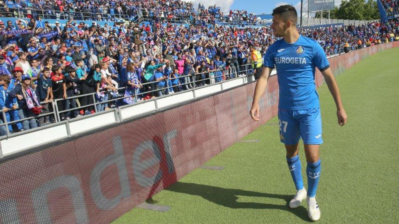 Gol de  Hugo Duro, del Getafe B, al Lealtad (3-0)
