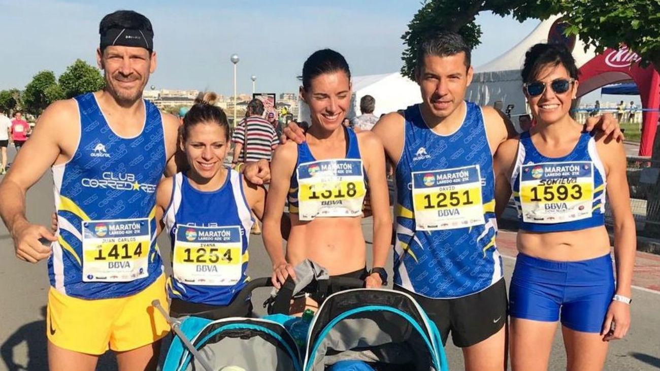 Beatriz Morillo, récord Guinness de medio maratón con carrito de dos niños