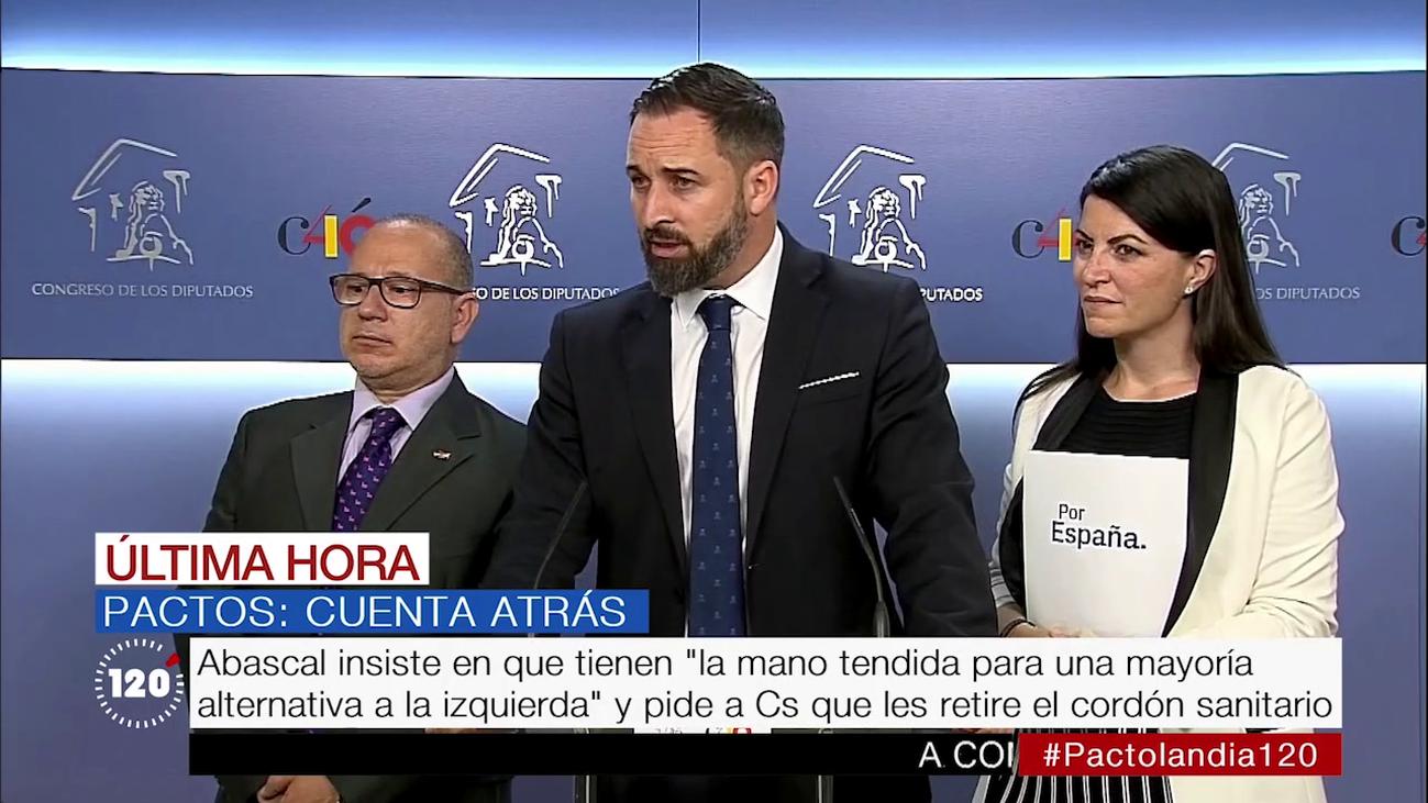 Abascal insiste en sentarse a negociar como condición para apoyar gobiernos de PP y Cs