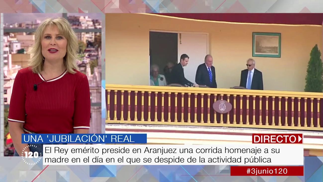 El rey Juan Carlos, homenajeado en Aranjuez en el día de su retirada institucional