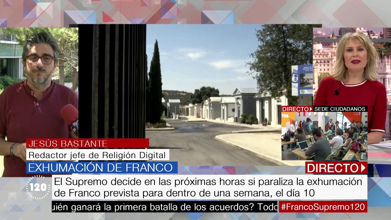El Supremo decide en las próximas horas si se paraliza la exhumación de Franco