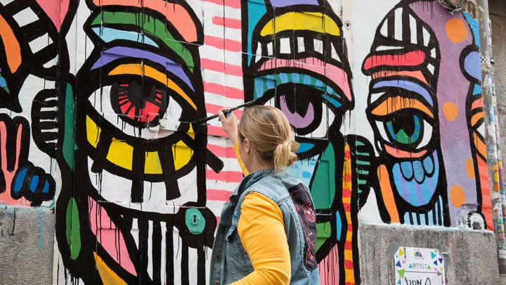 Pinta Malasaña 2018 - obra de Bona Berlín