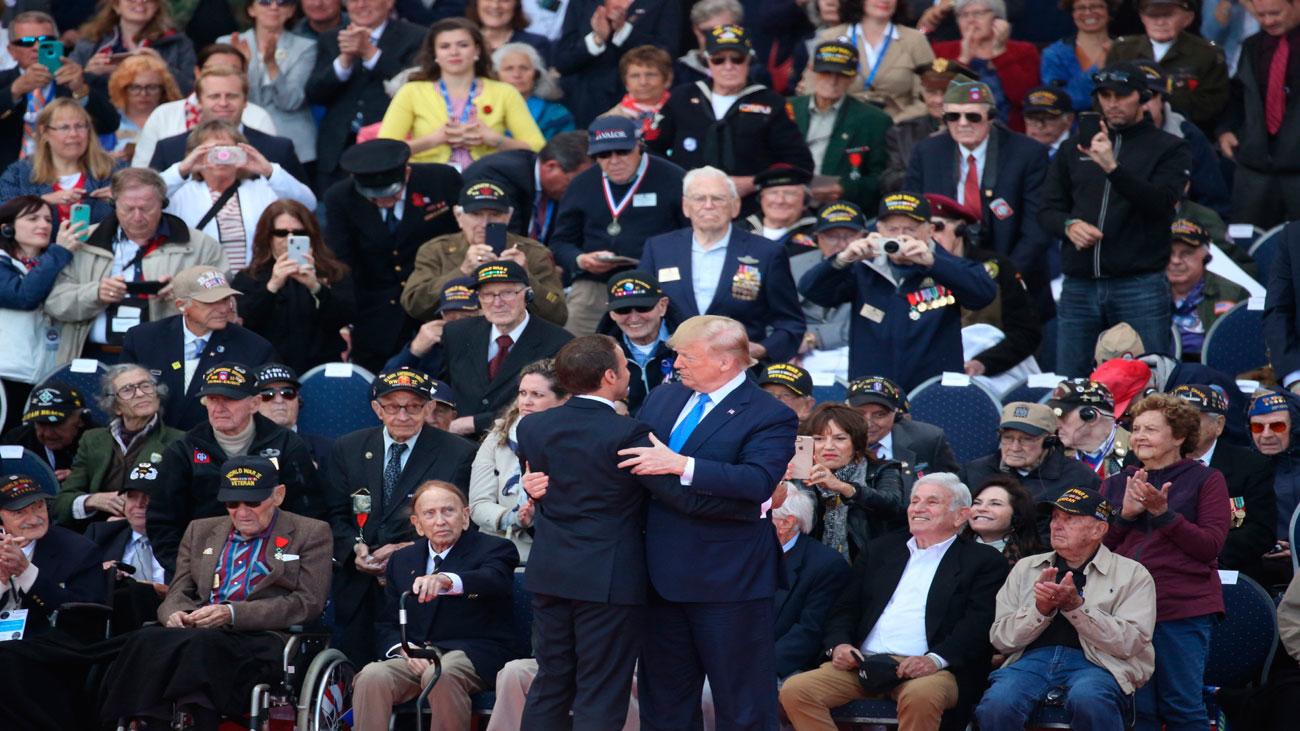 """Trump en Normandía: """"Nuestro vínculo es irrompible"""""""
