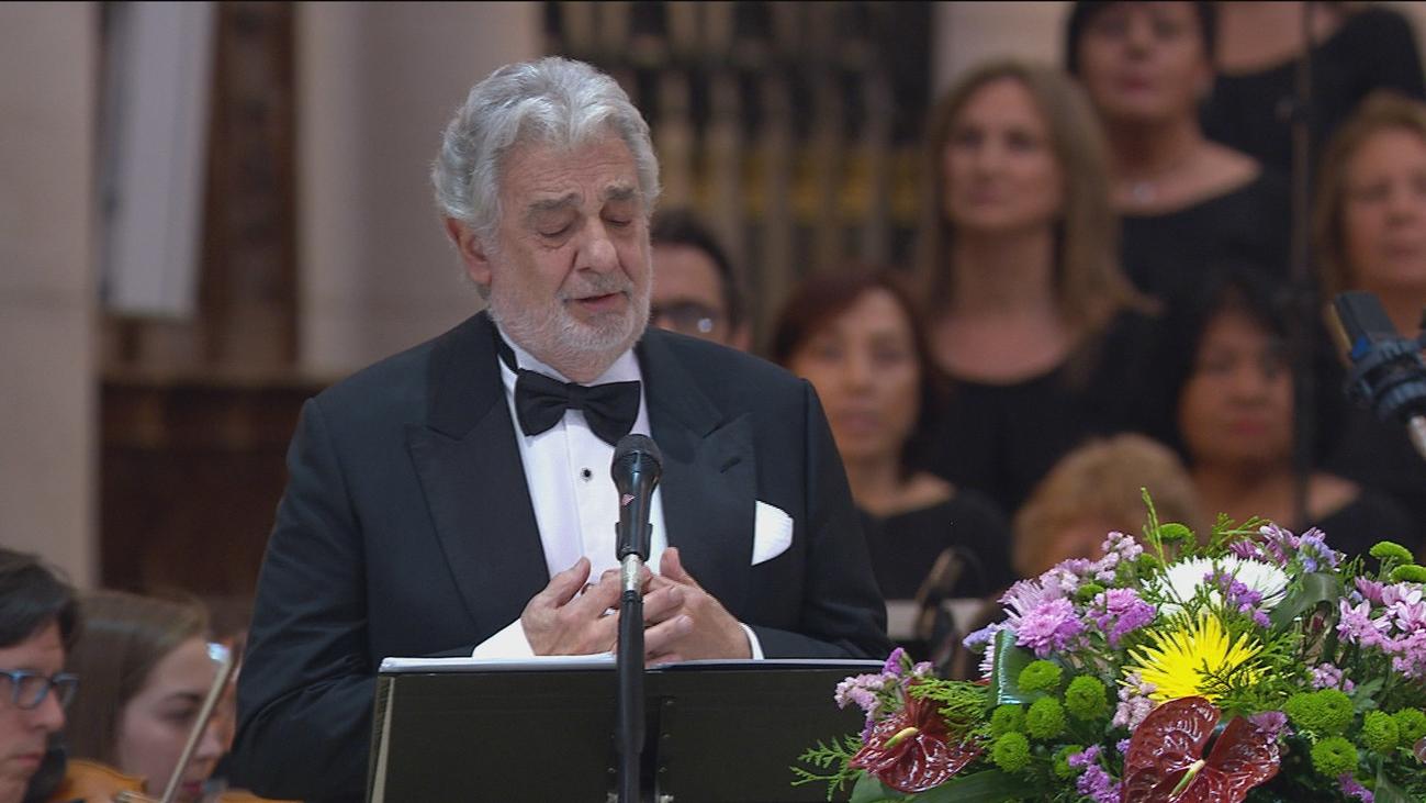 Espectacular concierto de Plácido Domingo en La Almudena