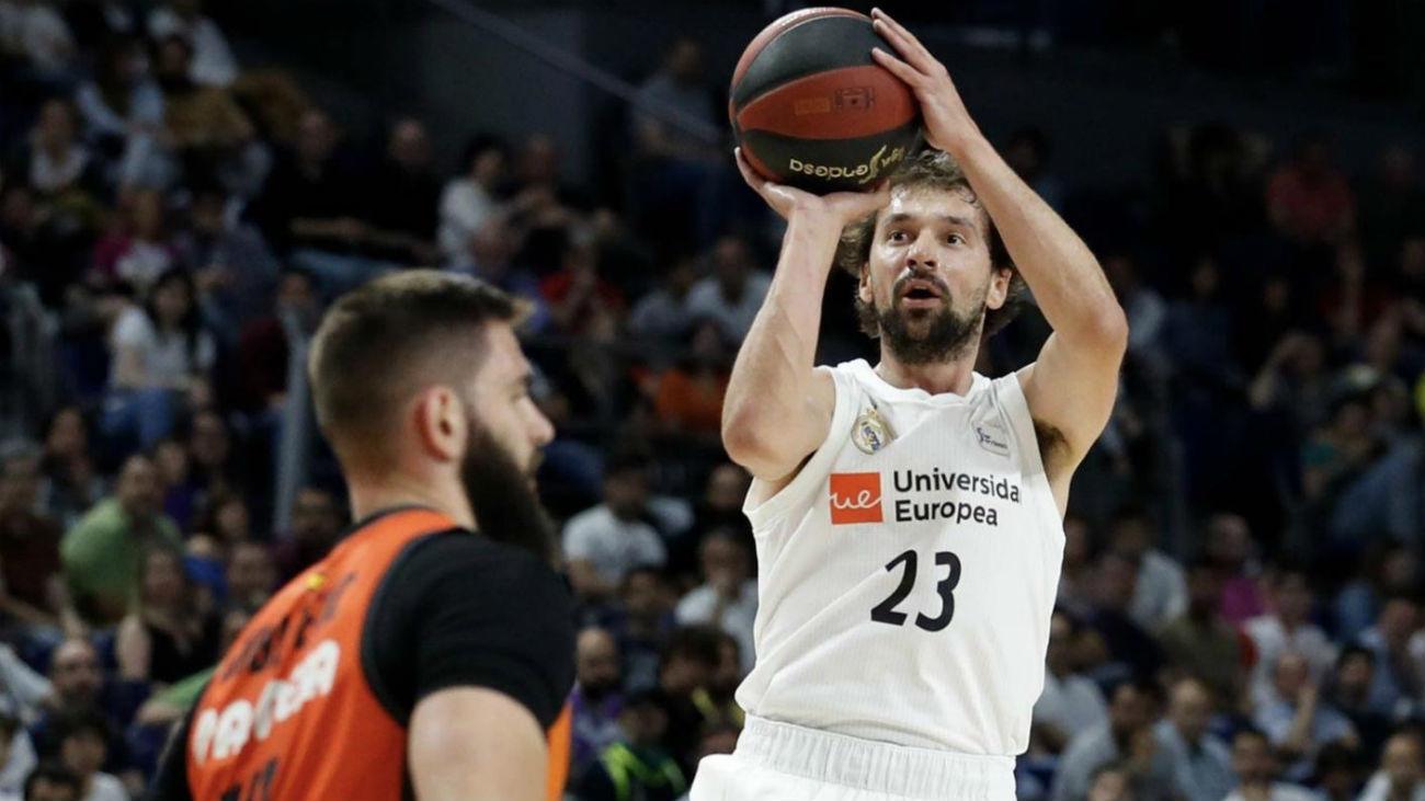 Sergio Llull ante el Valencia Basket